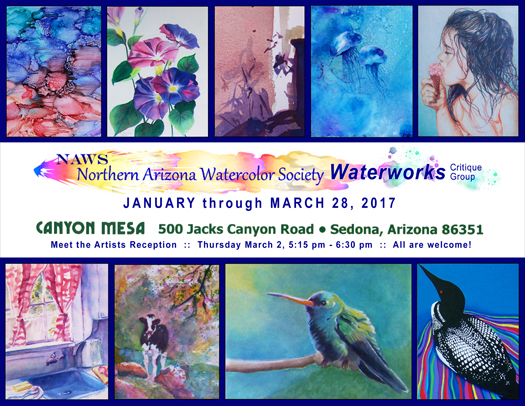 Waterworks at Canyon Mesa Clubhouse - January through March 28, 2017